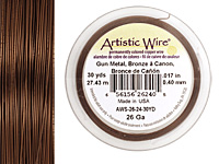 Artistic Wire Antique Brass 26 gauge, 30 yards