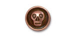 TierraCast Antique Copper (plated) Skully Button 17mm