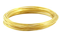 Memory Wire Gold (plated) Large Bracelet .5 oz.