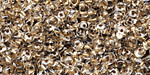 Crystal (w/ Gold Lining) SuperDuo 2x5mm Seed Bead