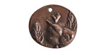 Nunn Design Antique Copper (plated) Shenandoah Charm 25x23mm