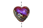 Grace Lampwork Violet Shimmer Heart 18-20mm