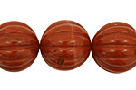Red Jasper Carved Round 18mm