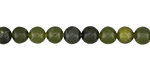 Green Serpentine (dark) Round 6mm