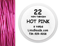 Parawire Hot Pink 22 Gauge, 8 Yards