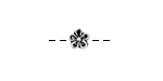 Pewter 5 Petal Daisy 7mm