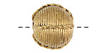 African Brass Corrugated Roped Round 17-20mm