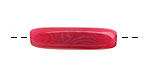 Tagua Nut Hot Pink Tube 20-30x5-8mm