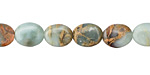 Impression Jasper Flat Oval 10x8mm