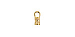 Gold (plated) Crimp Cord End 2.5mm