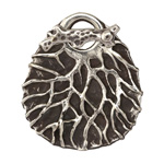 Saki White Bronze Tree Branch Toggle Clasp 40x30mm, 25mm bar