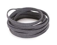 Charcoal Microsuede Flat Cord 5mm