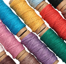 Multi Color Hemp Twine 10 lb, 29 ft x 12 colors