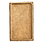 Nunn Design Antique Gold (plated) Rectangle Ornate Grande Brooch 28x46mm