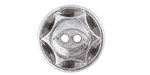 Antique Silver (plated) Sunburst Button 16mm