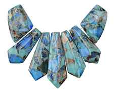 Ocean Blue Impression Jasper Pendant Set 20-45mm