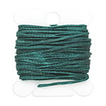 Dark Forest Green Waxed Nylon Flat Braided Cord 1mm