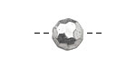 Pewter Faceted Coin 12mm
