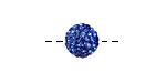 Sapphire Pave (w/ Preciosa Crystals) Round 10mm