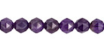 Amethyst (A) Diamond Cut Faceted Round 8mm