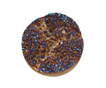 Druzy (metallic blue) Round Cabochon 30mm