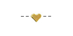 Gold (plated) Simple Heart Focal Bead 7x6mm