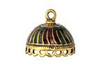 Zola Elements Antique Gold (plated) Enameled Carousel Tassel Cap w/loops 24x21mm