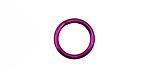 Violet Anodized Aluminum Jump 13mm, 16 gauge (10mm inside diameter)