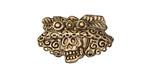 Patricia Healey Bronze Cantina Skull 10mm Flat Slide 25x16mm