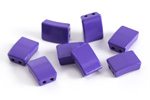 Purple Enamel 2-Hole Tile Rectangle Bead 12x8mm