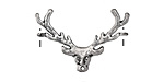 Antique Silver (plated) Small Stag Head Focal 29x20mm