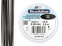 "Beadalon Black .015"" 49 Strand Wire 10ft."
