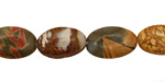 Red Creek Jasper Flat Oval 12x8mm
