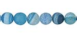Aqua Blue Line Agate (matte) Round 8mm