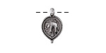 Zola Elements Antique Silver (plated) Beaded Elephant Charm 10x17mm
