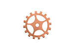 Copper Sectioned Gear 19mm