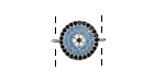 Storm Mix Pave CZ Gunmetal (plated) Coin Focal Link 17x13mm