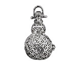 Antique Silver Finish Gourd Diffuser Locket 25x44mm