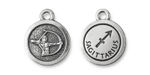 TierraCast Antique Silver (plated) Round Sagittarius Charm 15x18mm