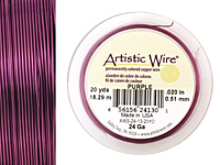 Artistic Wire Purple 24 gauge, 20 yards