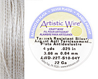 Twisted Artistic Wire Tarnish Resistant Silver 22 gauge, 4 yards