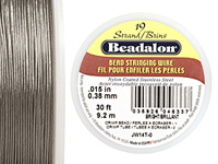 "Beadalon Bright .015"" 19 Strand Wire 30ft."
