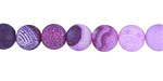 Purple Fire Agate (matte) Round 8mm