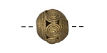 African Brass Spirals (large hole) Round 17-21mm