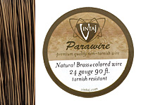 Vintaj Natural Brass Parawire 24 gauge, 90 feet