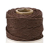 Dark Brown Hemp Twine 48 lb, 205 ft