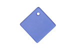 Royal Blue Recycled Glass Curved Diamond Square Pendant 18mm