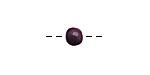 Tagua Nut Violet Round 6mm