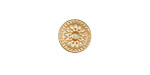 Zola Elements Matte Gold (plated) Radiant Sun Disc 3mm Flat Cord Slide 11mm