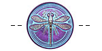 Czech Glass Aqua/Purple Dragonfly Button 23mm